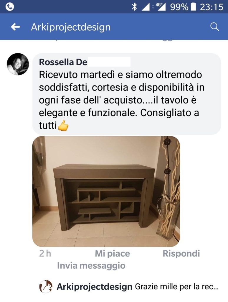 Commento di un cliente Arkiprojectdesign